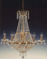 8152-6+4-S - Basket Chandelier